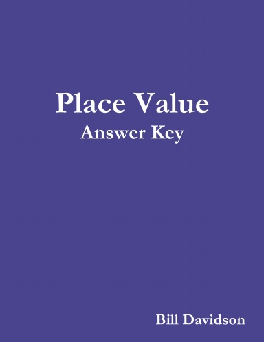Book 2 Place Value Answer Key