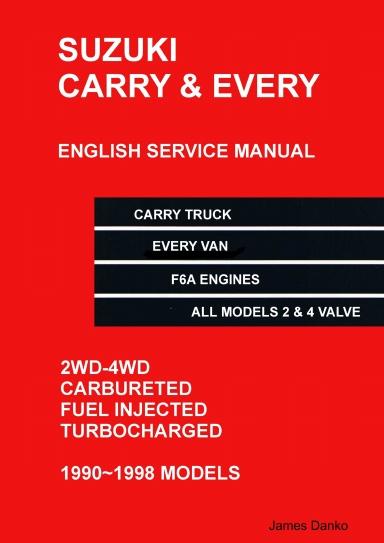 Suzuki Carry Truck Every Van English Mechanical Service Manual