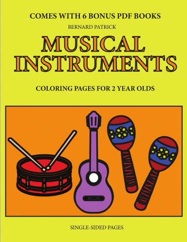 Coloring Pages For 2 Year Olds Musical Instruments