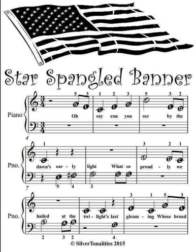 Star Spangled Banner Beginner Tots Piano Sheet Music Pdf