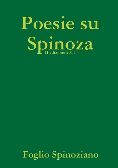 Poesie Su Spinoza ed. 2011