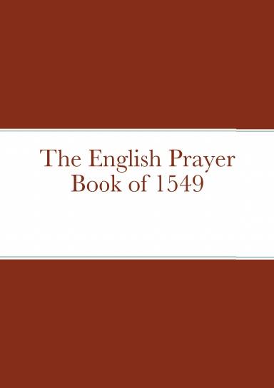 The English Prayer Book of 1549