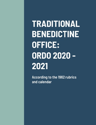 Benedictine Ordo for 2020-21