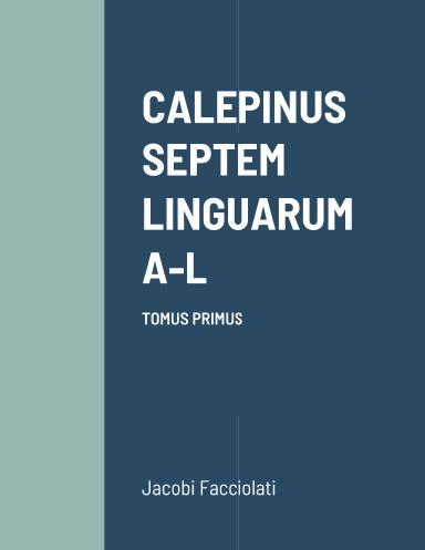 Lexicon latinum A-L